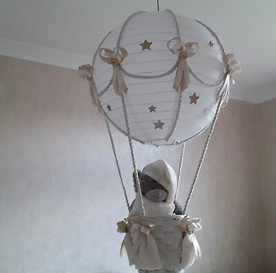 STARRY NIGHT Hot Air Balloon Light Shade in beige  Made to Order