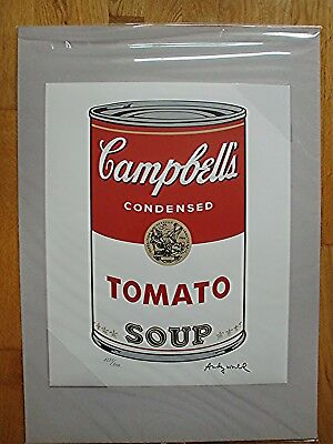 ANDY WARHOL >Campbells Soup TOMATO< limitierte Auflage
