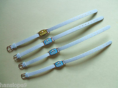 PERSONALISED BRACELETS - BOYS - Lace Mate with BLUE faux leather strap