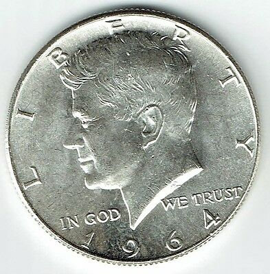 1964 P Kennedy Half Dollar 90% Silver US Mint (Exact Coin Shown) 295