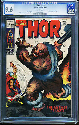 Thor #159 CGC 9.6 White 1/72 Origin of Don Blake (Thor)