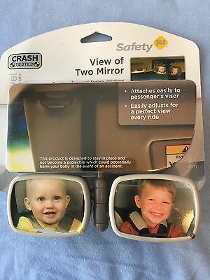 NIP Safety 1st, View of Two Mirror. Flexible Two-Way Car Mounted Mirror NEW Baby