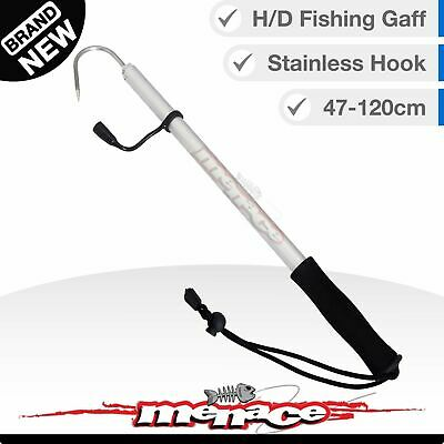 Heavy Duty Telescopic Fishing Gaff with Marine Grade Stainless Steel Spear Hook