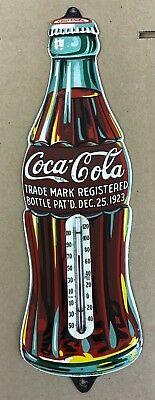 100% ORIGINAL, EARLY & NEAR MINT 1932 COCA-COLA EMBOSSED Thermometer