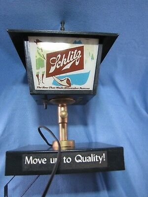 Vintage Schlitz Beer Lamp Post Carriage House Light Wall Hanging Sign-Working