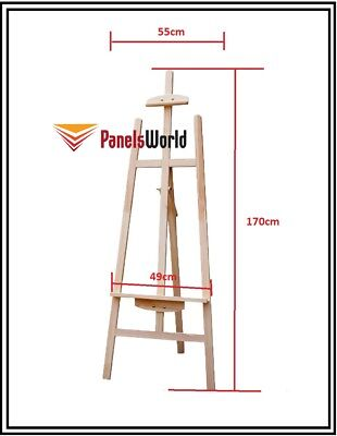 Pine Wood Easel Craft Painting Shop Display Frame Stand 170cm