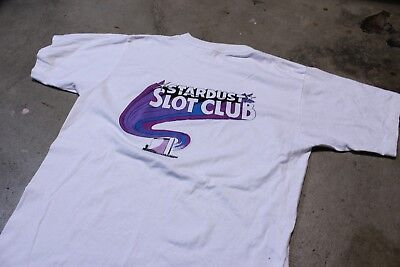 Vintage 90s Stardust Slot Club Resort and Casino Las Vegas T Shirt Mens Size L