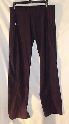 """Women's Under Armour large fitted cold gear pants black/silver (32"""" inseam) NWOT"""