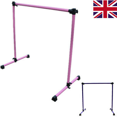 Ballet Barre Bar Adjustable Dance Exercise Portable Freestanding Single Height