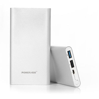 10000mAh External Power Bank Dual USB Backup Battery Charger For iPhone Samsung