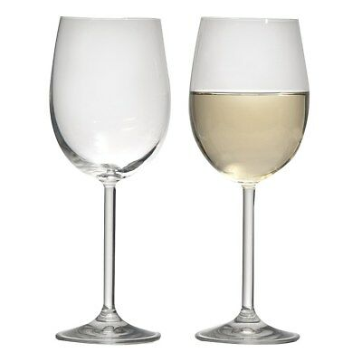 NEW Ecology White Wine Glasses 350ml Set of 6