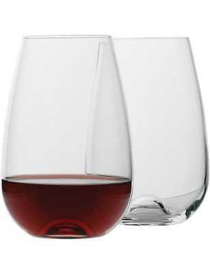 NEW Ecology Red Wine Glasses Stemless 660ml Set of 4