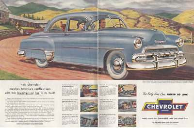 1952 Chevrolet: Lowest Price in the Field Vintage Print Ad