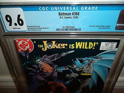 Batman 366 CGC 9.6 White Pages! Joker -  Brand New Case!!