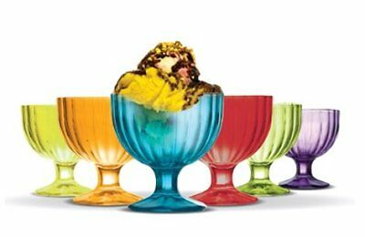NEW Classica Alaska Coloured Ice Cream Bowls Set of 6