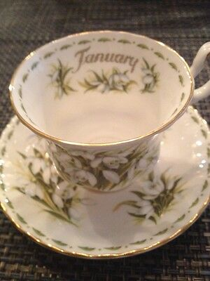 Royal Albert Bone China Flowers Of The Month Snowdrops Cup & Saucer Set