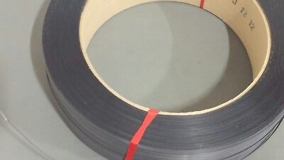 """1/2"""" wide Black Poly Strapping 7200 Ft, 16x6"""" core, binding (#9135-1604-072)"""