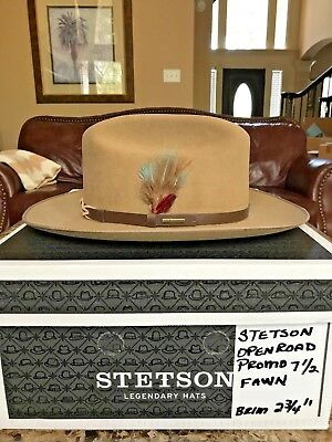 "Stetson ""open Road"" Promo Fawn Western Hat Size 7 1/2 !"