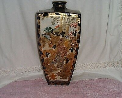 Antique Japanese Satsuma Vase, Rare & Large, Artist Marks, In Perfect Condition.