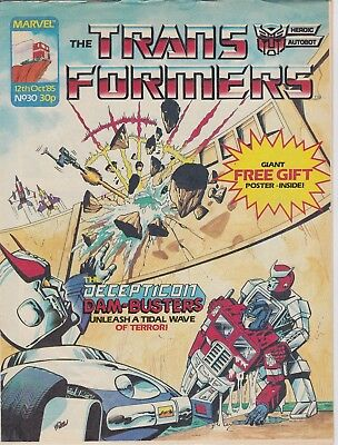 Marvel UK The Transformers #30 (1985) Rare British Weekly Comic