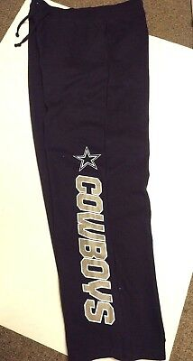 Dallas Cowboys Mens Authentic Navy Team Nfl Sweatpants New Pick Size