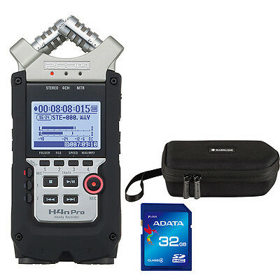 Zoom H4n Pro Handy Digital Voice Audio Recorder + Carry Case + 32GB Memory Card