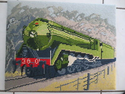 Tapestry  Craft Picture Completed And Framed Train 36 01 England