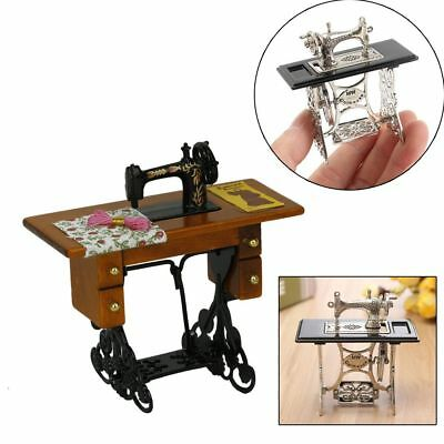 Vintage 1:12 Scale Dollhouse Miniature Furniture Mini Sewing Machine Table