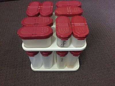 Tupperware Modular Mates Spice Set With Carousel Cranberry