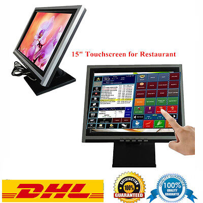 """KASSENMONITOR 15"""" TFT POS DISPLAY Touchscreen Monitor Touch monitor LCD mit USB"""