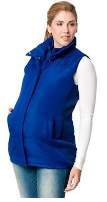 Motherhood Maternity Small S Puffer Vest Jacket Very Warm NEW NWT Sexy Blue