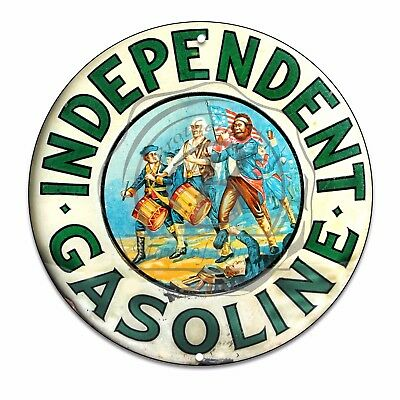 Vintage Design Sign Metal Decor Gas and Oil Sign - Independent Oil and Gasoline