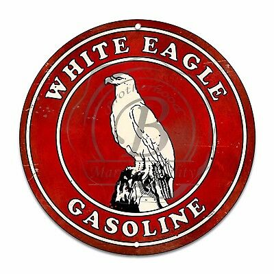 Vintage Design Sign Metal Decor Gas and Oil Sign - White Eagle Gasoline