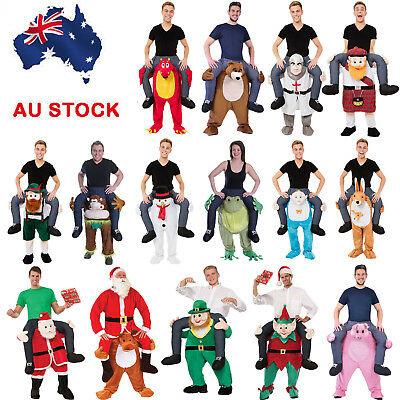 AU New Shoulder Carry Ride On Piggy Back Fancy Dress Costume Outfit Mens Womens