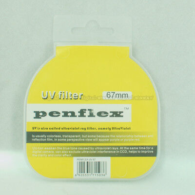 Slim Penflex 67/72/77/82 MM Haze UV Ultra-Violet Filter Lens Protector for DSLR