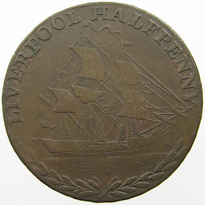 Great Britain Half Penny 1791 Liverpool   #lo 165