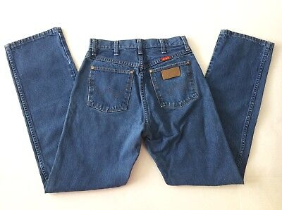 Vintage 90s Wrangler High Waisted Mom Jeans Classic Blue Denim Womens