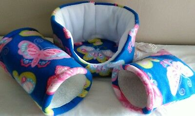 SALE * guinea pig / rat / hamster / pygmy hedgehog -Snuggle bed, tunnel & pouch