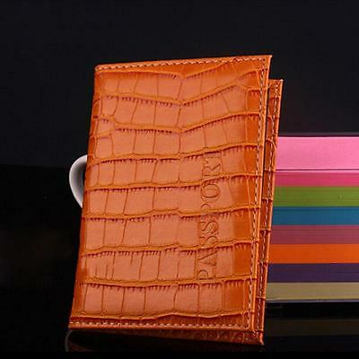 Delicate Business Card Holder Passport Cover PU Leather Alligator Embossing brow