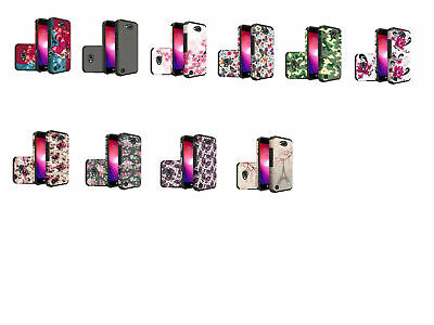 Design Dual Armor Hybrid Case Cover For LG X Charge/X Power 2/Fiesta LTE Phone