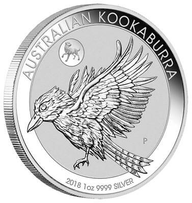 Australien 1 Dollar 2018 - Kookaburra Privy Mark Hund - 1 Oz Silber ST in Kapsel