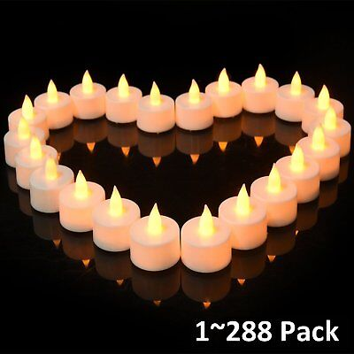 lot flameless battery christmas led tea lights flickering amber tealight candles