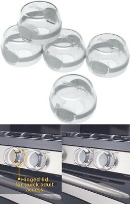 Clear View Stove Knob Cover for Kitchen Gas Electric Baby Safety Children Locks