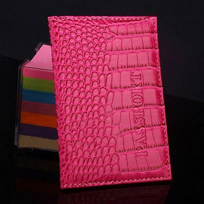 2017 Delicate Business Card Holder Passport Cover Leather Alligator Embossing