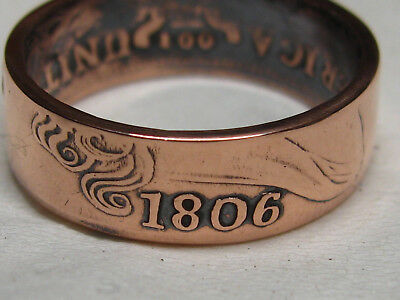 1806 large cent coin ring....wow!!!! size 10.5