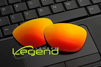 E22 Fire ETCHED POLARIZED Replacement Legend Lenses For Oakley FROGSKIN