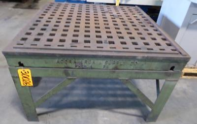 """4' x 4' ACORN Welding Table 1-3/4"""" Square Holes Stand (30026)"""
