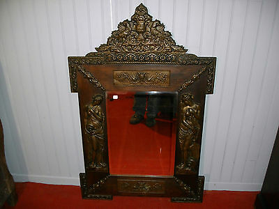 Grand Miroir Bronze Xix Eme Napoleon Iii Decor Femme Antique