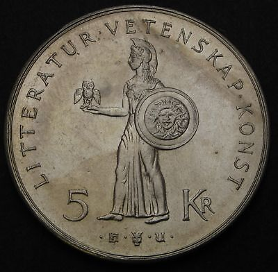 SWEDEN 5 Kronor ND(1962) U - Silver - 80th Birthday of Gustaf VI Adolf - 2113
