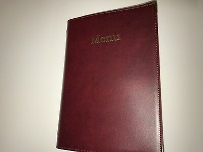 TOP QUALITY PRODUCT QUANTITY 40 (forty) A4 PU PRINTED MENU BURGUNDY COVERS